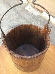 19th Century wood bucket