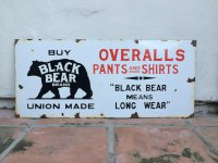 Black Bear Overalls Sign