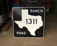 Ranch Road Sign
