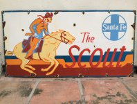 Santa Fe Railroad Scout Sign