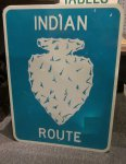 Indian Route Highway Sign