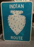 Indian Route Highway Sign Thumbnail