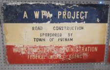 WPA Sign - Road Construction Thumbnail
