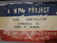 WPA Sign - Road Construction