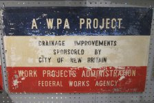WPA Sign - Drainage Improvements Thumbnail