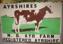 Ayrshires Cattle Farm Sign Thumbnail