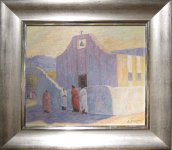 John Modesitt - Oil Painting - Taos Adobe Village Thumbnail